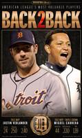"""Back to Back MVP's"" Miguel Cabrera & Justin Verlander 2012 Free Press Poster"