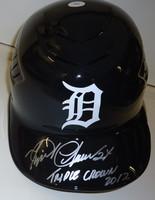 """Miguel Cabrera Autographed Detroit Tigers Authentic Batting Helmet - """"Triple Crown 2012"""" Inscription"""