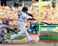 "Miguel Cabrera Autographed Detroit Tigers 16x20 Photo #3 ""Triple Crown 2012"" Inscription - Home Swinging (Horizontal)"