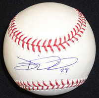 Danny Worth Autographed Baseball - Official Major League Ball
