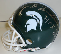"Joe Delamielleure Autographed Michigan State Spartans Mini Helmet inscribed ""HOF 03"""