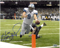 Matthew Stafford Autographed Detroit Lions 8x10 Photo #4 - Diving for a Touchdown