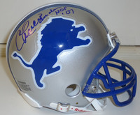 "Charlie Sanders Autographed Detroit Lions Mini Helmet inscribed ""HOF 07"""