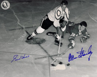 Gordie Howe and Allan Stanley Autographed 8x10 Photo