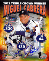 Miguel Cabrera Autographed Detroit Tigers 8x10 Photo #6 - Triple Crown Composite