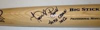 "Miguel Cabrera Autographed Big Stick Bat (Tan) - ""Triple Crown 2012"" Inscription"