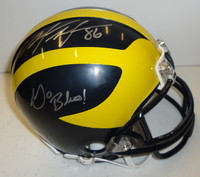Mario Manningham Autographed Michigan Wolverines Mini Helmet