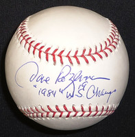 "Dave Rozema Autographed Baseball with ""1984 WS Champs"" - Official Major League Ball"