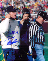 Gary Moeller Autographed Michigan Wolverines 8x10 Photo #2 - On the sideline