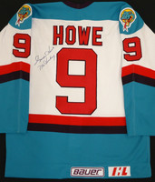 Gordie Howe Autographed Detroit Vipers Authentic Jersey