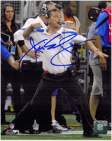 Jim Schwartz Autographed Detroit Lions 8x10 Photo #1 - The Fist Pump