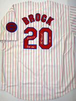 Lou Brock Autographed St. Cloud Rox (Cubs) Minor League Jersey