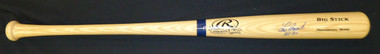 Lou Brock Autographed Bat Inscribed HOF 85