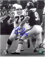 Dan Dierdorf Autographed St. Louis Cardinals 8x10 Photo #2 - Blocking the Pass Rush
