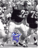 Dan Dierdorf Autographed Michigan Wolverines 8x10 Photo #1 - B&W Action