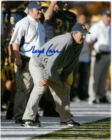 Lloyd Carr Autographed 8x10 Photo #1 - On The Sidelines