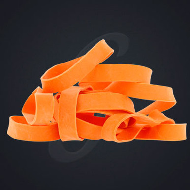 12 pack of Orange Classic Grand Band replacement rubber bands