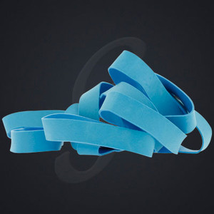 12 pack of Cyan Blue Luxe Grand Band replacement rubber bands