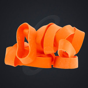 12 pack of Orange Luxe Grand Band replacement rubber bands