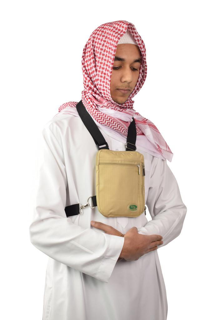 Hajj Safe secure hajj and umrah neck and side bag