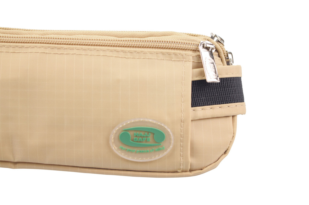 Anti-Theft Ihram Belt - Multiple Zips with two main pockets.