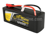 Gens Tattu Plus 12000mAh 22.2V 15C 6S1P Lipo Smart Battery Pack With AS150 + XT150 Plug