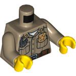 Lego Torso Sheriff with Badge Dark Tan