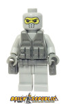 Brick Republic Custom Minifigure - Swat Gray Balaclava