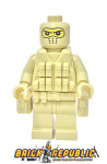 Brick Republic Custom Minifigure - Swat Tan Balaclava