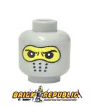- Custom Printed Lego Minifigure Head - Gray Balaclava