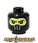 - Custom Printed Lego Minifigure Head - Black Balaclava