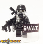 "Brick Republic Custom Minifigure Swat ""Heavy"""