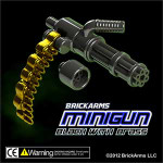 BrickArms Black Minigun w/Brass Ammo Chain