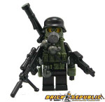 "Brick Republic Custom Minifigure ""Fully Loaded"""