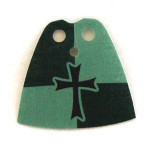 Crusader Dark Green Standard Cape with Cross