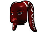 Tentacle Head with Face Pattern - Dark Red