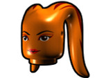 Tentacle Head with Face Pattern - Orange