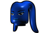 Tentacle Head with Face Pattern - Blue