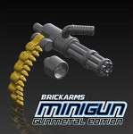 BrickArms Gunmetal Minigun w/ Brass Ammo Chain