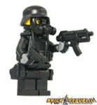 Brick Republic Custom Minifigure Swat Gas Mask With 2 Canisters