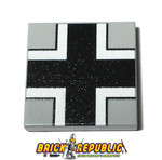Custom Printed LEGO 2X2 Tile - German Cross