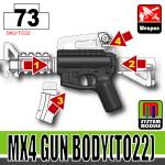 SI-DAN Black MX4 Gun Body (TO22)