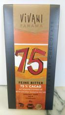 Vivani  75% Cacao bitter chocolate 80g