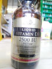 Vitamin D3 liquid by Solgar 2500iu 59ml