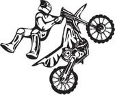 Motocross motorcycle stunt dirt bike freestyle action vinyl wall art sticker 98