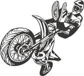 Motocross motorcycle stunt action vinyl wall sticker bedroom garage man cave #24