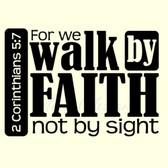 FOR WE WALK BY FAITH Corinthians vinyl wall sticker saying inspirational bible
