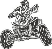 ATV action stunt vinyl wall art sticker decal boy bedroom garage man cave #005