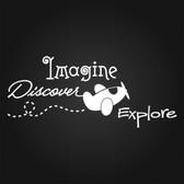 imagine discover explore vinyl sticker