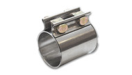 "Heavy Duty Stainless Steel Exhaust Sleeve Butt Joint Clamp for 2.5"" O.D. Tubing"